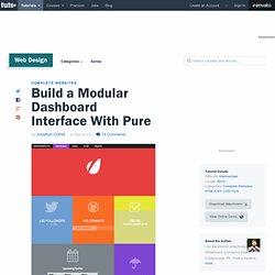 Build a Modular Dashboard Interface With Pure