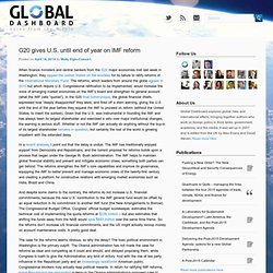 Global Dashboard – Blog covering International affairs and global risks