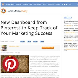 New Dashboard from Pinterest to Keep Track of Your Marketing Success