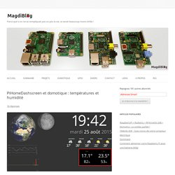 Dashboard domotique avec températures - MagdiBlog