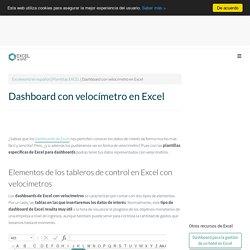 Dashboard con velocímetro en Excel