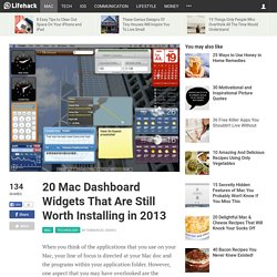 20 Mac Dashboard Widgets That Are Still Worth Installing in 2013