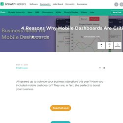 4 Reasons Why Mobile Dashboards Are Critical To Run Your Business -