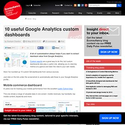 10 useful Google Analytics custom dashboards