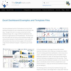 Excel Dashboards (Examples and free templates) — Excel Dashboards VBA and more