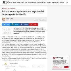 3dashboards qui montrent le potentiel de Google Data Studio