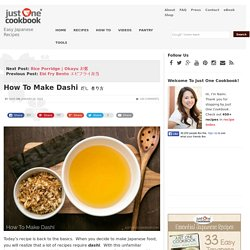 How To Make Dashi