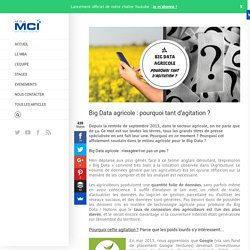 MBA MCI 22/12/15 Big Data agricole : pourquoi tant d'agitation ?