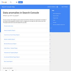 Data anomalies in Search Console - Search Console Help