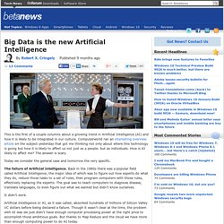 Big Data is the new Artificial Intelligence