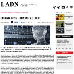 Big Data Boss : un robot au CoDir