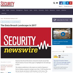 The Data Breach Landscape in 2017
