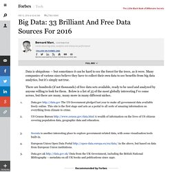 Big Data: 33 Brilliant And Free Data Sources For 2016