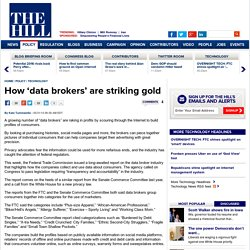 How 'data brokers' are striking gold