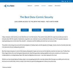 Data-centric security for Hadoop, SQL and Big Data