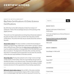 Big Data Certifications VS Data Science Certifications