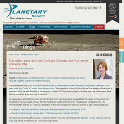 Fun with a new data set: Chang'e 3 lander and Yutu rover camera data