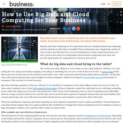 Which are the benefits and advantages of using Big data with could computing.