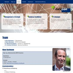 Data-Consulting GmbH: Team