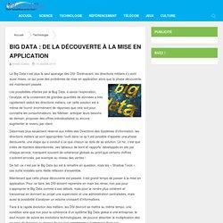 Big Data : de la découverte à la mise en application