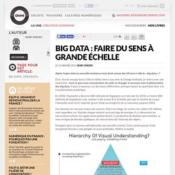 Big Data : faire du sens à grande échelle