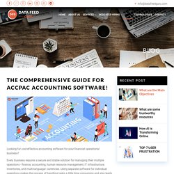 The Comprehensive Guide For Accpac Accounting Software!