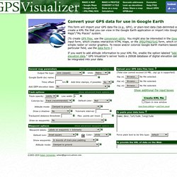 Map a GPS data file with Google Earth (KML)