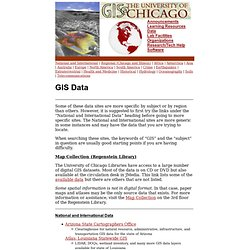 Data - GIS at University of Chicago