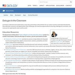 Data.gov in the Classroom - Data.gov