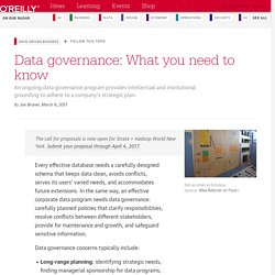 Data governance: What you need to know