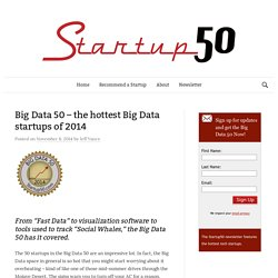 Big Data 50 – the hottest Big Data startups of 2014 - Startup 50