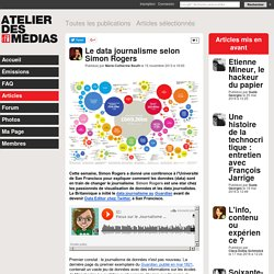 Le data journalisme selon Simon Rogers