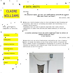 # Data_Knits – Claire Williams