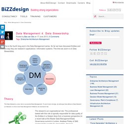 Data Management 4: Data Stewardship