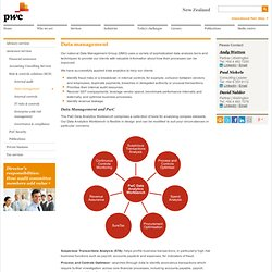 Data management - PwC New Zealand