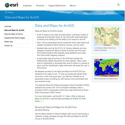 Data and Maps for ArcGIS | DVDs