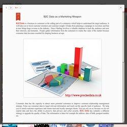 precise data: B2C Data as a Marketing Weapon