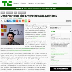 Data Markets: The Emerging Data Economy