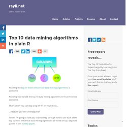 Top 10 data mining algorithms in plain R