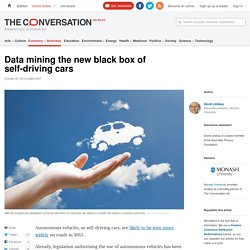 Data mining the new black box of self-driving cars