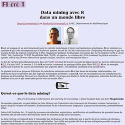 [FRENCH] Data Mining avec R dans un monde libre