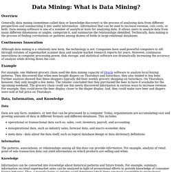 Data Mining: What is Data Mining?