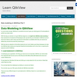 Data modeling in QlikView Part 1