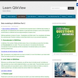 Data modeling in QlikView Part 2