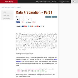 Data Preparation - Part I