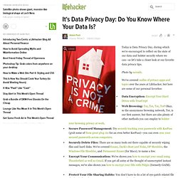 It's Data Privacy Day: Do You Know Where Your Data Is?