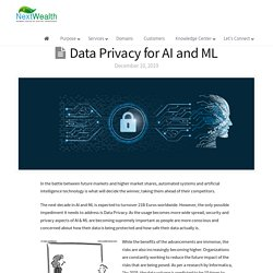 Data Privacy for AI and ML - By Mahesh .T