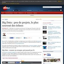 Big Data : peu de projets, le plus souvent des échecs