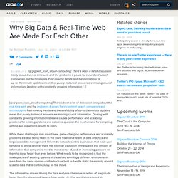 Why Big Data & Real-Time Web Are Made For Each Other: Tech News «
