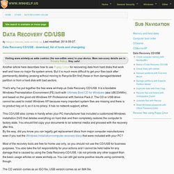 Data Recovery CD/USB